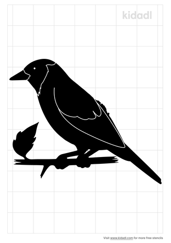 tanager-bird-stencil