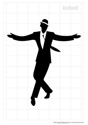 tap-dancerstencil