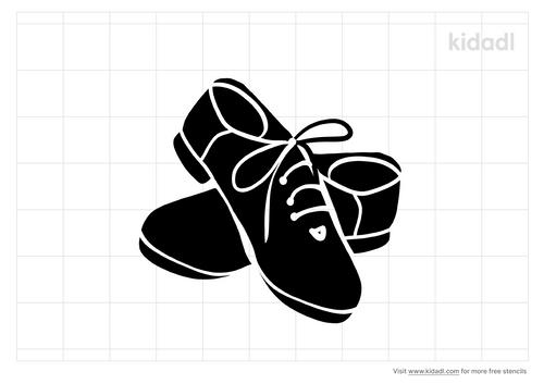 tap-shoes-stencil