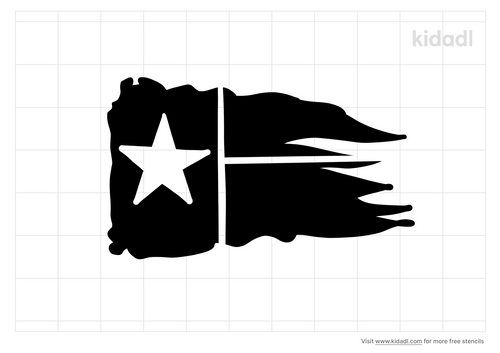tattered-texas-flag-stencil