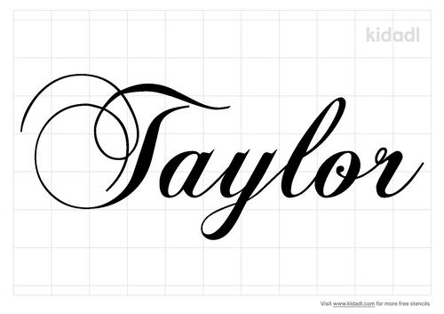 taylor-name-stencil