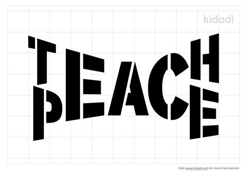 teach-peace-stencil