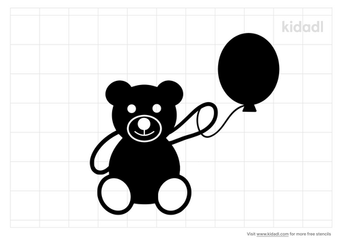 teddy-bear-with-balloon-stencil