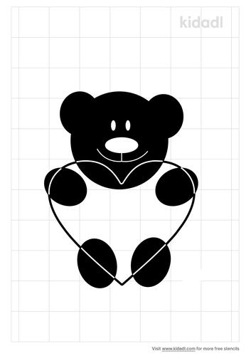 teddy-bear-with-heart-stencil