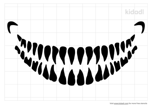 teeth-stencil