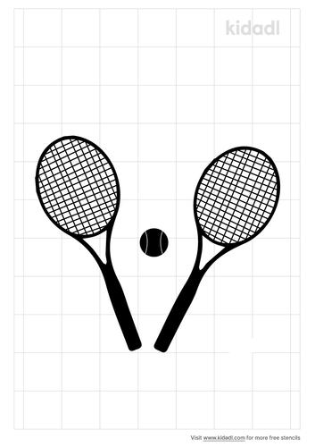 tennis-ball-and-racket-stencil