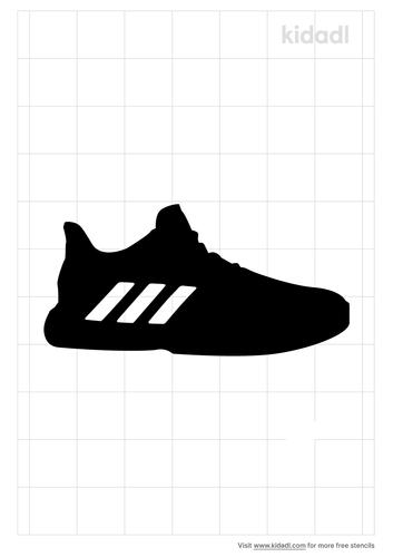tennis-shoe-stencil