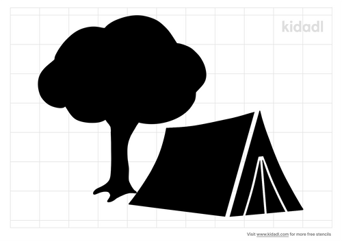 tent-and-tree-stencil