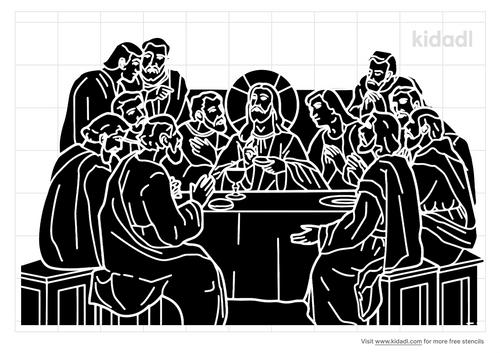 the-last-supper-stencil