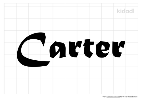 the-name-carter-tattoo-stencil