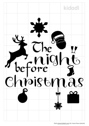 the-night-before-christmas-stencil