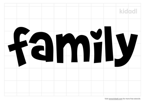 the-word-family-stencil