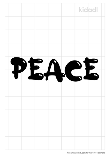 the-word-peace-in-bubble-letters-stencil