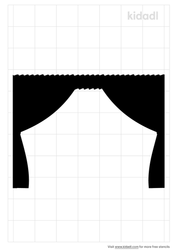 theater-curtain-stencil
