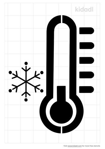 thermomter-cold-stencil