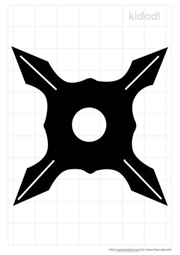 throwing-star-stencil