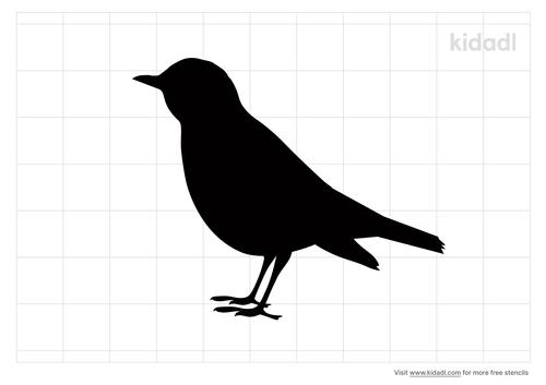 thrush-bird-stencil