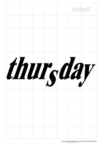 thursday-stencil