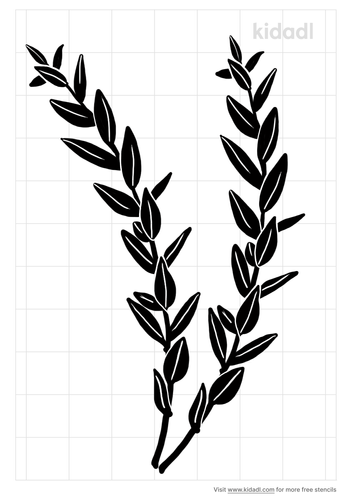 thyme-leaves-stencil