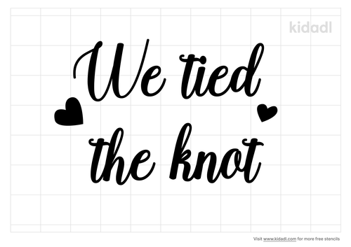 tied-the-knot-stencil