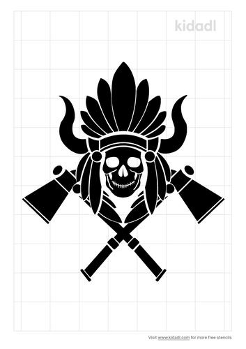 tomahawk-stencil