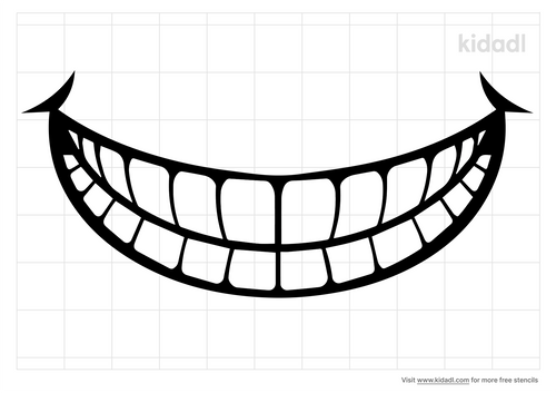 toothy-smile-stencil