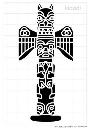 totem-pole-stencil