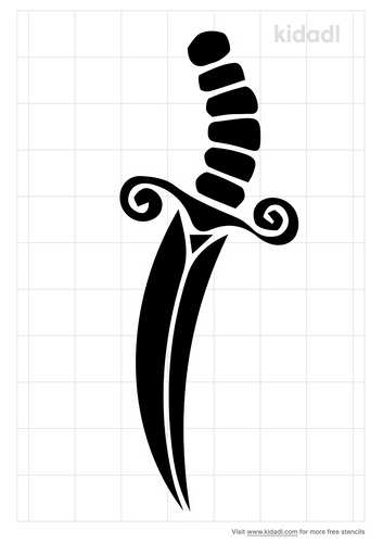traditional-dagger-stencil
