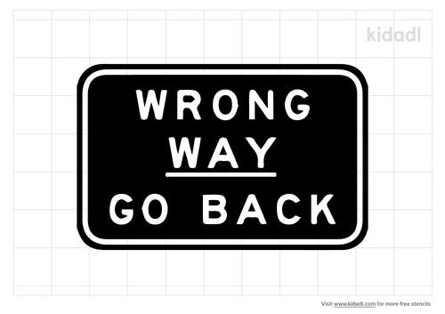 traffic-marking-wrong-way-stencil