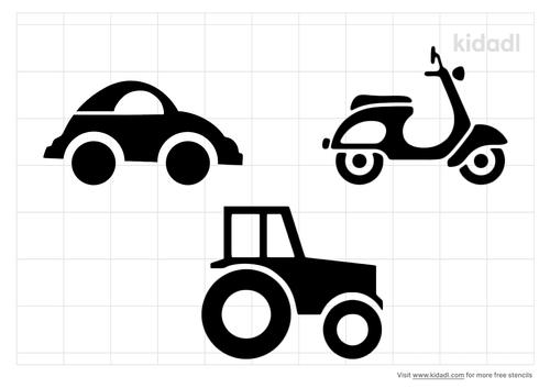 transportation-stencil