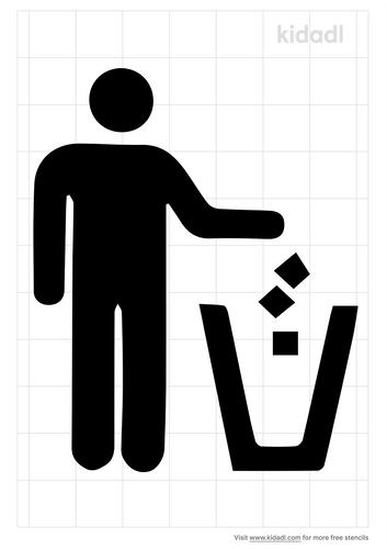 trash-only-stencil