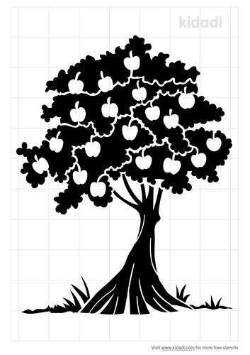 tree-with-apple-stencil