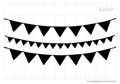 triangle-banner-stencil