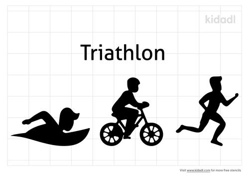 triathlon-stencil
