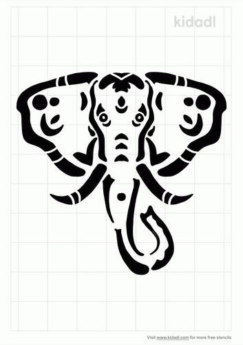 tribal-elephant-head-stencil