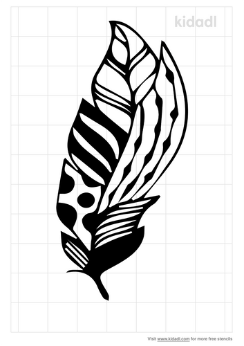 tribal-feather-stencil