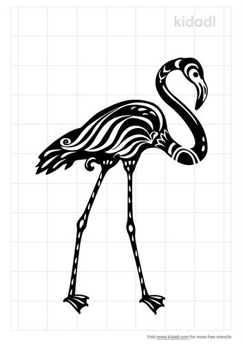 tribal-flamingo-stencil