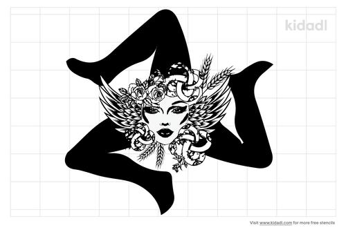 trinacria-stencil