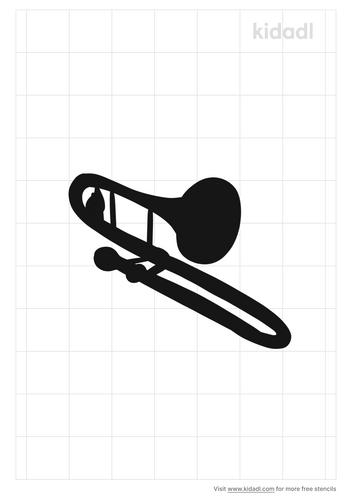 trombone-stencil