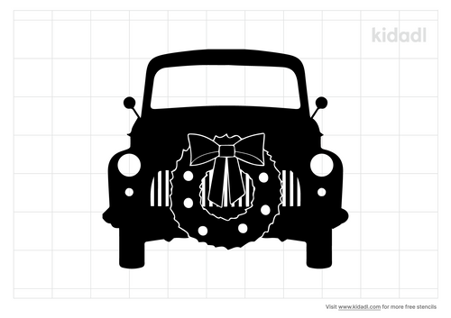 truck-with-wreath-bow-stencil