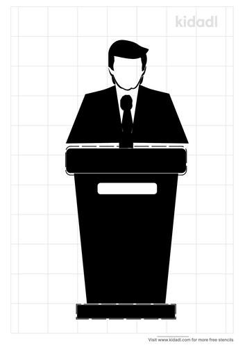 trump-in-podium-stencil