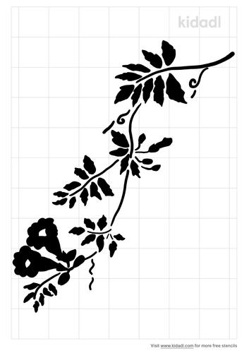 trumpet-vine-stencil