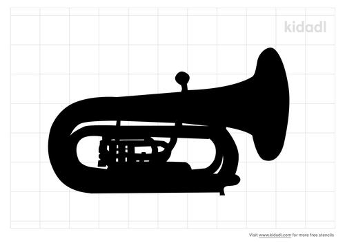 tuba-stencil