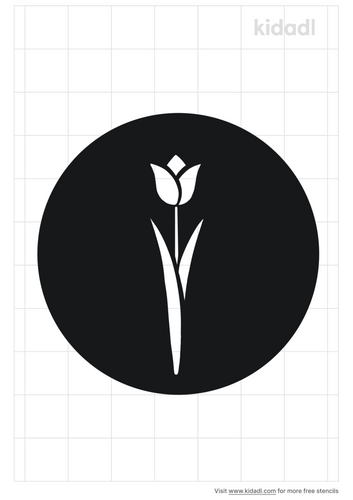 tulip-stencil