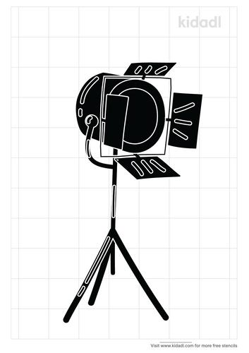 tv-studio-lights-stencil