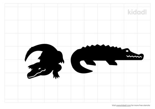 two-crocodiles-stencil