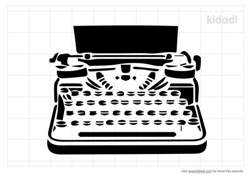 typewriter-stencil