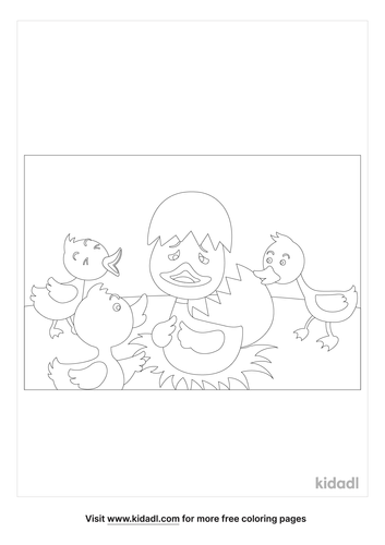 ugly-duckling-coloring-page