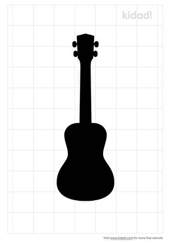 ukulele-stencil