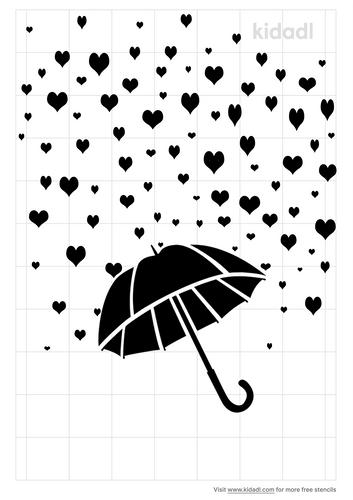 umbrella-raining-hearts-stencil